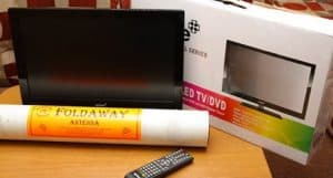 Television and DVD Player